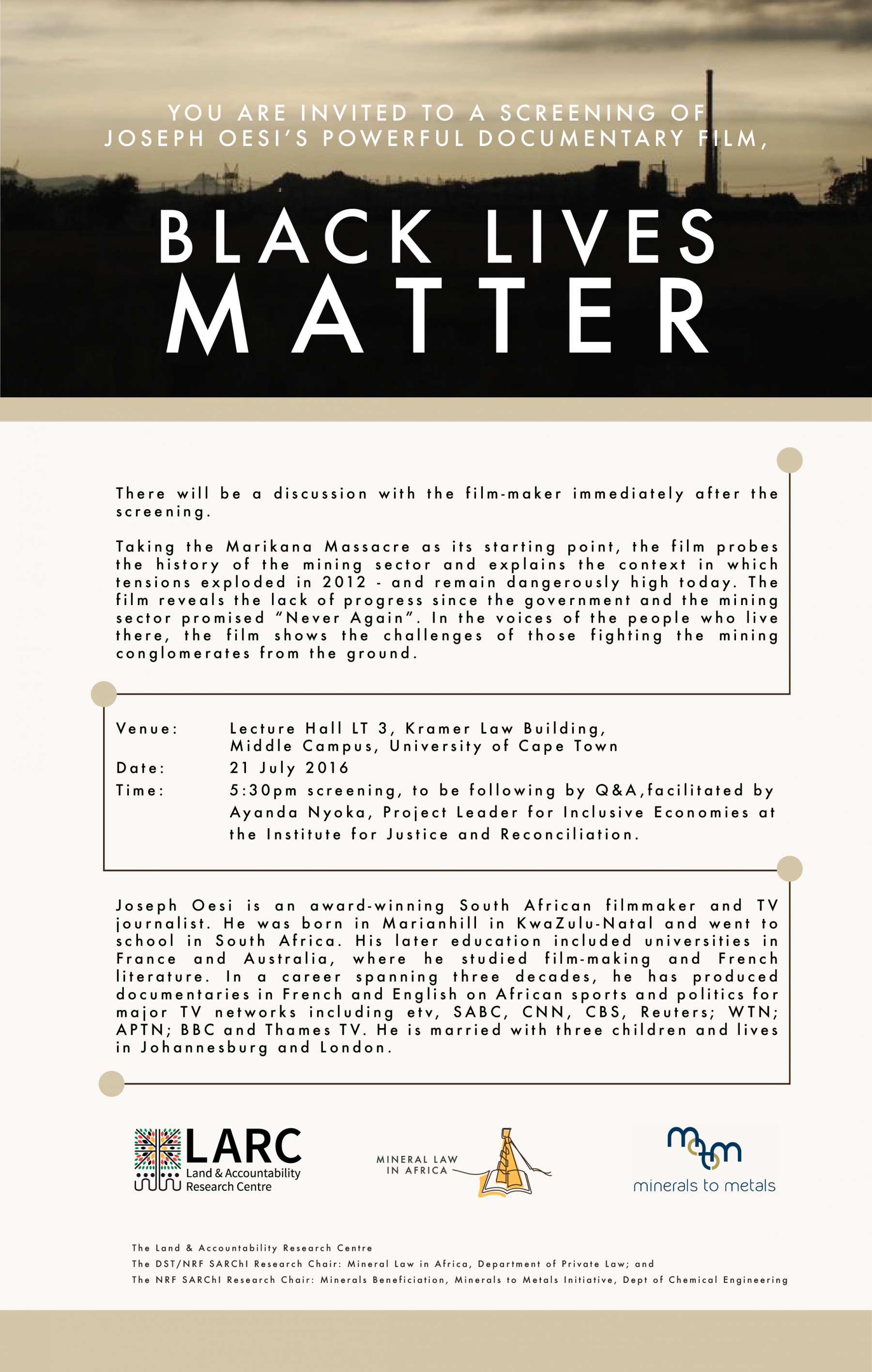 Invitation screening of black lives matter 21 july 2016 land invitation screening of black lives matter 21 july 2016 stopboris Images